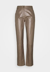 Bally - LEATHER TROUERS - Leather trousers - dove - 4