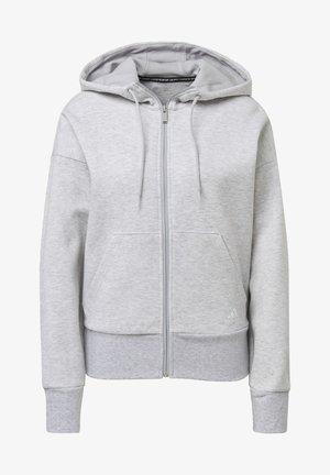 3-STRIPES DOUBLEKNIT FULL-ZIP SCUBA HOODIE - Zip-up hoodie - grey