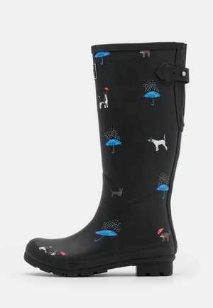 WELLY PRINT - Stivali di gomma - black