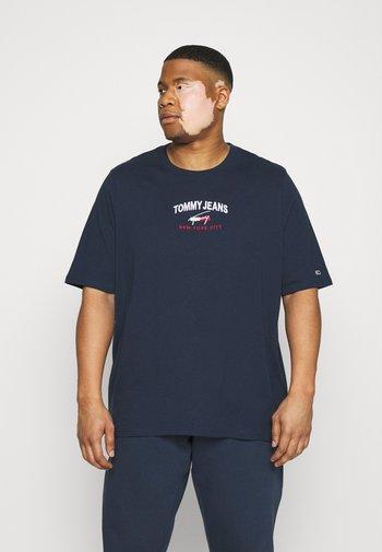 TIMELESS SCRIPT TEE - Print T-shirt - twilight navy
