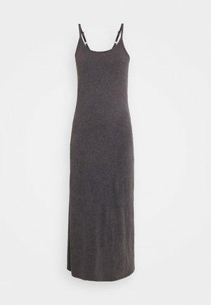 MAXI SLIP - Maxi-jurk - washed black
