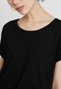 ONLY - T-shirt - bas - black/solid black
