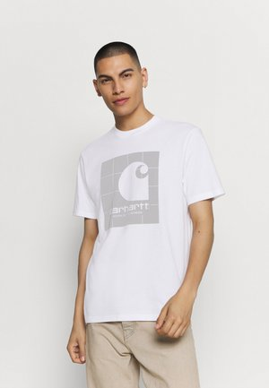 REFLECTIVE SQUARE  - Print T-shirt - white/reflective grey