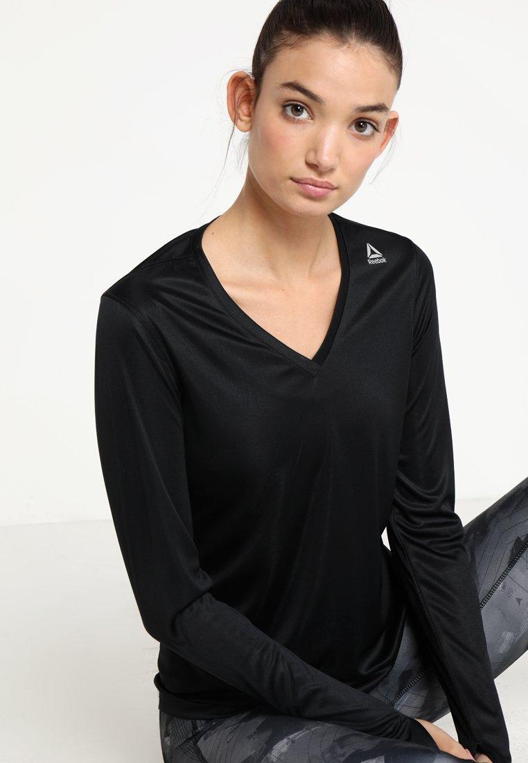 Reebok - TEE - Sports shirt - black