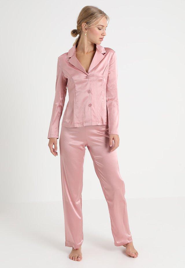 LONG PAJAMAS SHORT VERSION SET - Pyžamová sada - pink powder