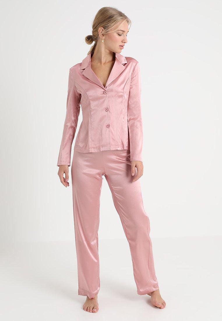 La Perla - LONG PAJAMAS SHORT VERSION SET - Pyjama set - pink powder