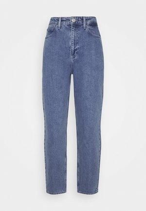 MOM JEAN CROP - Jeans Straight Leg - blue denim