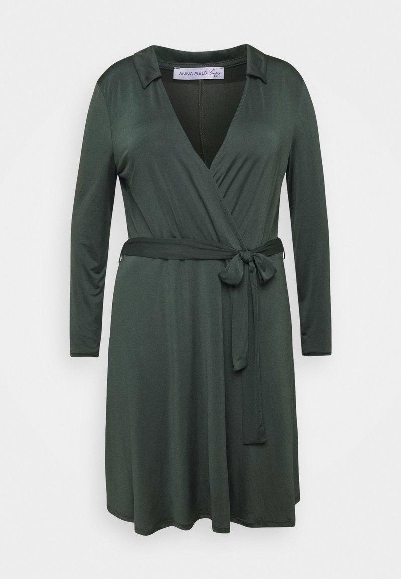 Anna Field Curvy Jerseykleid - dark green/dunkelgrün U2KwtI