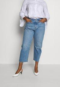 Levi's® Plus - 501® CROP - Straight leg -farkut - blue denim - 0