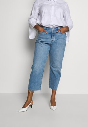 501® CROP - Jeansy Straight Leg - blue denim