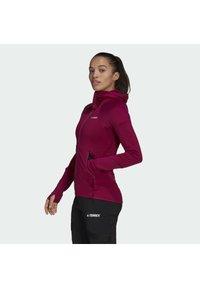 adidas Performance - Zip-up hoodie - burgundy - 3