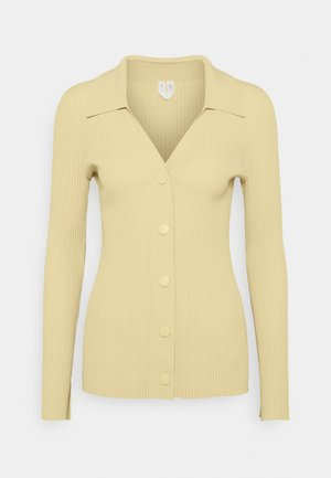 CARDIGAN - Cardigan - beige/yellow