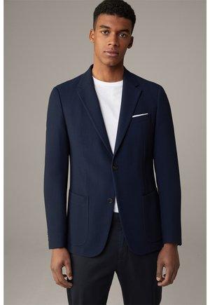 Arndt - Blazer jacket - navy strukturiert