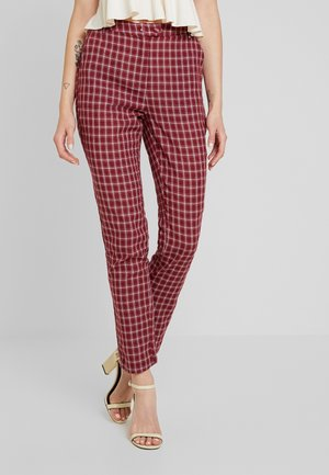 BRICK TROUSERS - Bukse - red check