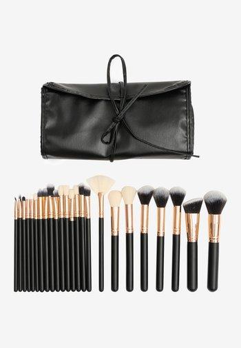 24PK MAKEUP BRUSH KIT - Makeup brush set - black and rosegold