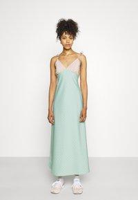 Fashion Union - CAPRI DRESS - Maxi dress - peach/aqua - 0