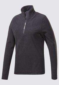 Reebok - OUTERWEAR QUARTER-ZIP TOP - Fleece jumper - black - 7