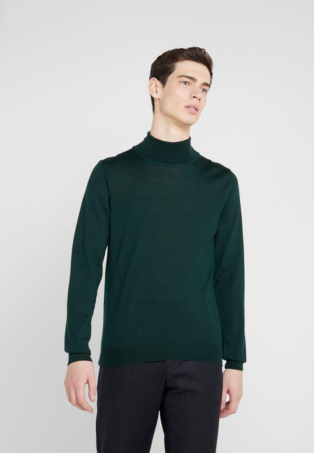 Strikkegenser - dark green