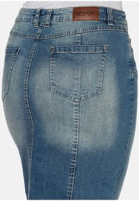 Sheego - Denim skirt - blue denim - 4