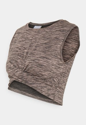 MLARINA ACTIVE CROPPED - Toppi - misty rose/black melange