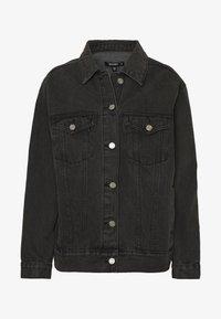 OVERSIZED JACKET - Džínová bunda - black