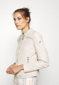 Gipsy - GGNIDEL LAMAS - Leather jacket - off white - 3