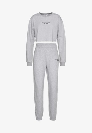 CROP AND JOGGER SET - Tuta - grey