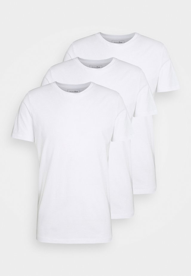 3 PACK - T-shirt basique - white