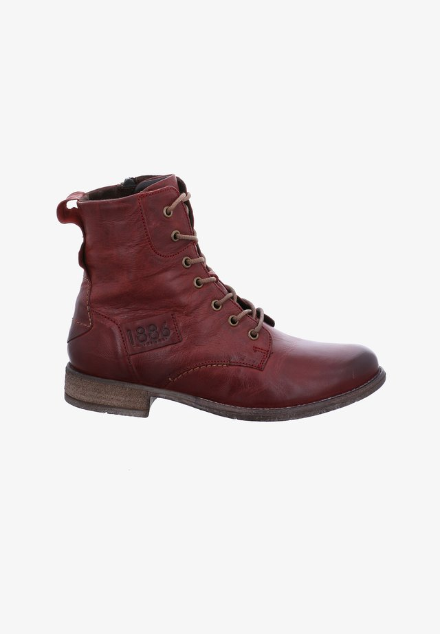 SIENNA  - Lace-up ankle boots - bordo