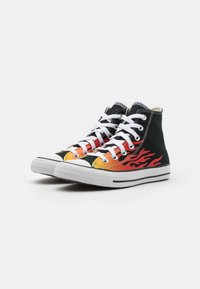Converse - CHUCK TAYLOR ALL STAR UNISEX - Sneakers high - black/enamel red/fresh yellow - 1