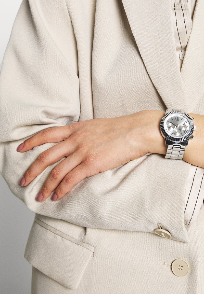 Anna Field - Chronograph watch - silver-coloured