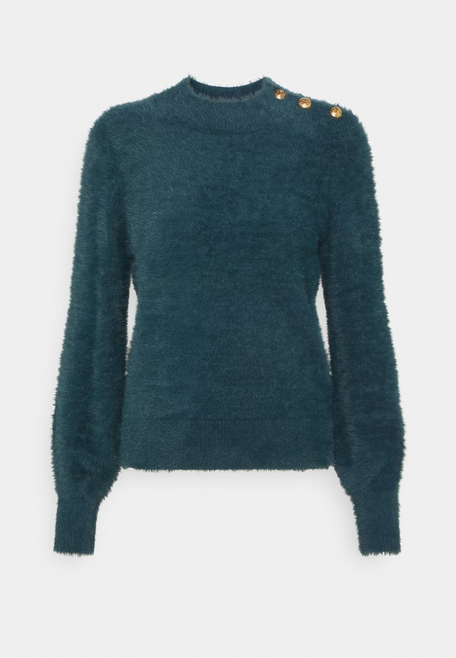EYELASH VOLUME SLEEVE CREW - Maglione - loch green
