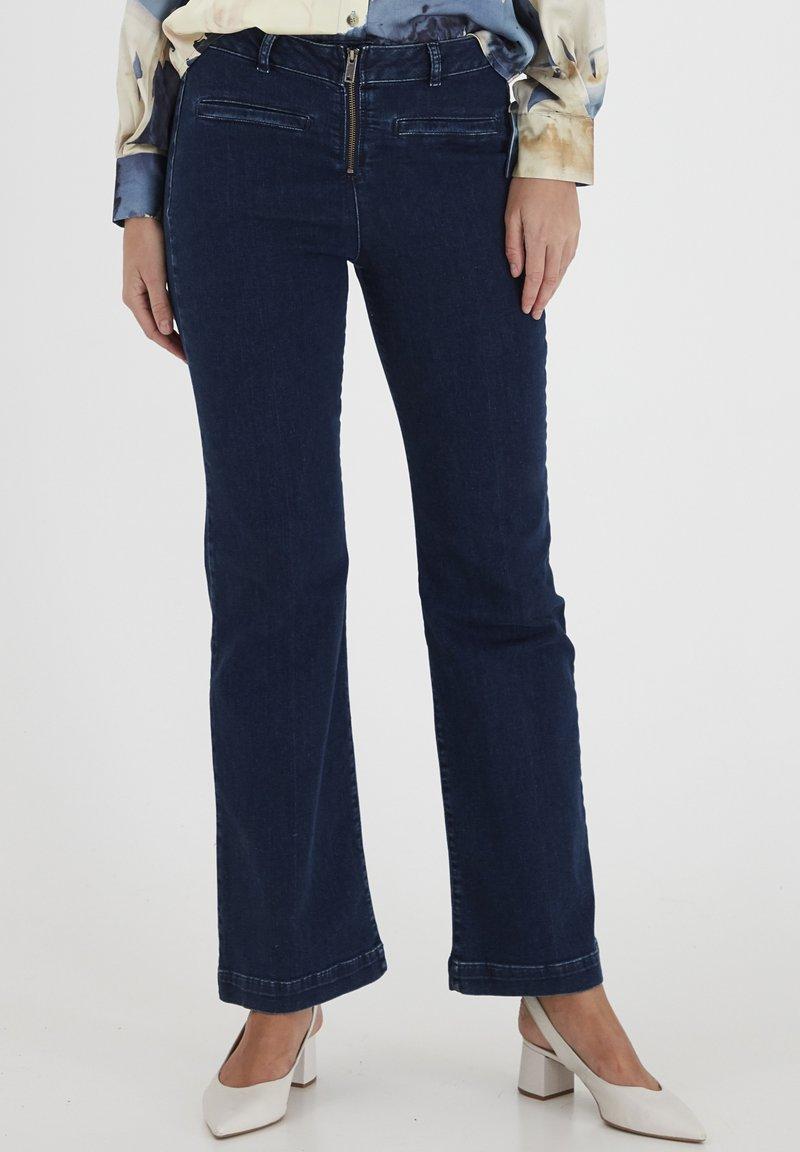 Dranella - DRLARRIET 3 TALIA  - Slim fit jeans - mid neptune blue