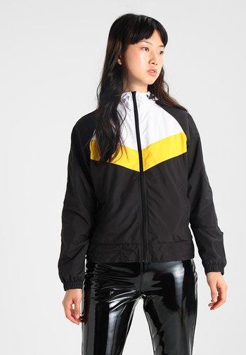 THREE TONE - Windbreaker - black/white/chrome yellow