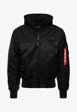 TEC BACK PRINT - Bomberjacka - black/red