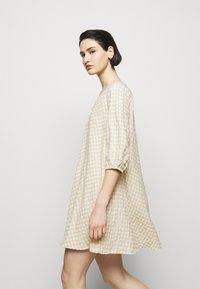 Bruuns Bazaar - SEER ALLURE DRESS - Day dress - sand/white check - 4