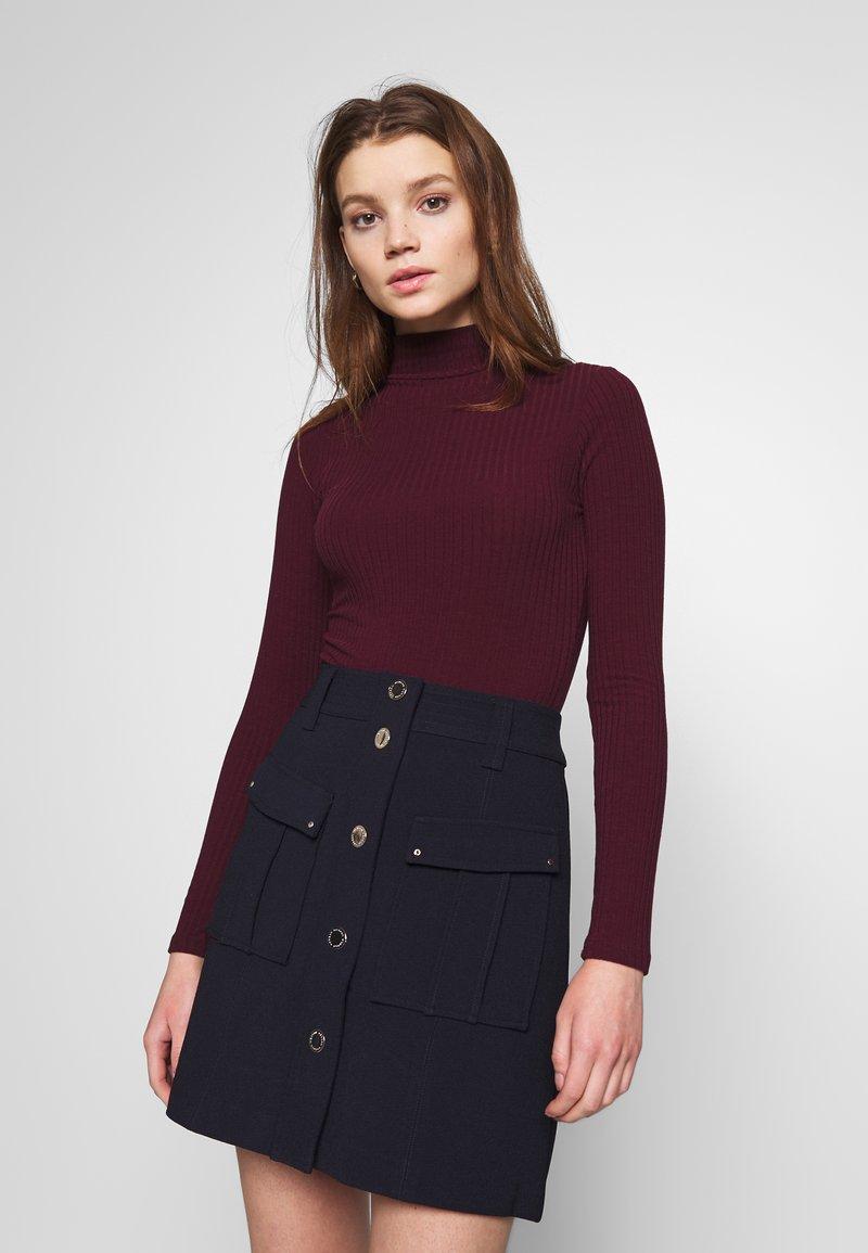 New Look - Topper langermet - dark burgundy