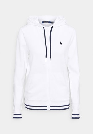 FULL ZIP LONG SLEEVE - Mikina na zip - pure white/french navy