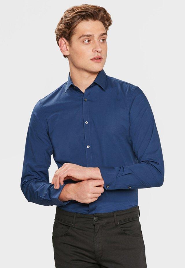 SLIM FIT STRETCH - Koszula - blue/grey