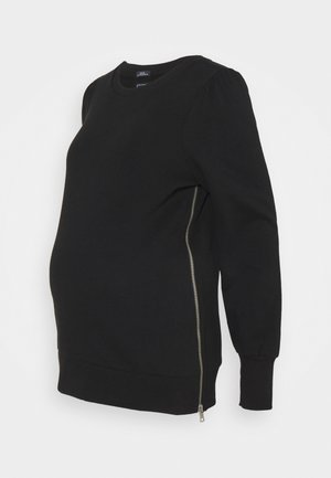 PUFF SIDE ZIP NURSING - Sweater - true black