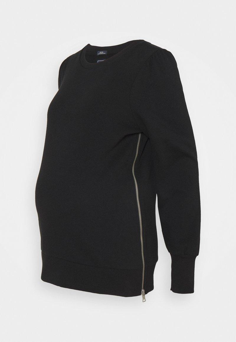 GAP Maternity - PUFF SIDE ZIP NURSING - Sweatshirt - true black
