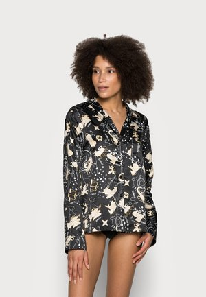 NIGHT SHIRT ASTRO - Pyjama top - black