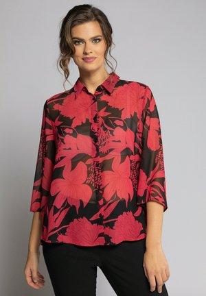 Overhemdblouse - light red
