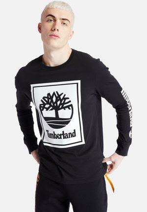 LS STACK LOGO TEE - Pitkähihainen paita - black/white