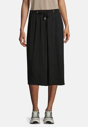 MIT BINDEGÜRTEL - A-line skirt - schwarz