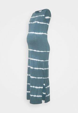 MLMALIA MAXI DRESS - Jerseykjole - china blue/tie dye white