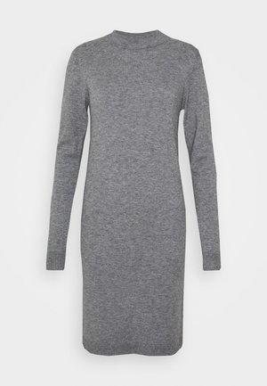 KNIT DRESS NOOS - Pletené šaty - medium grey melange