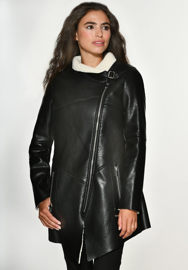 MIT WEICHEM KRAGEN SAVANNAH - Krótki płaszcz - black