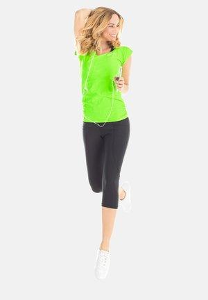 Print T-shirt - neon grün