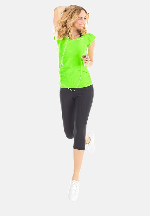 T-shirt imprimé - neon grün